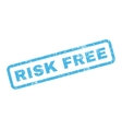 Risk Free Rubber Stamp vector image