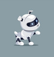 robotic dog with raised paw vector image vector image