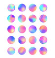 rounded holographic foil gradient for button vector image vector image