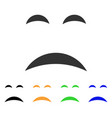 sadness smile icon vector image vector image