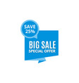 sale banner discount logo vector image vector image