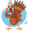 Scared Turkey Funny Cartoon vector image