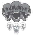 screaming skulls vector image vector image