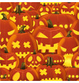 seamless halloween pattern with set vector image vector image