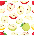 seamless pattern with cartoon apples vector image