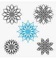 set of elements flowers or snowflakes vector image vector image