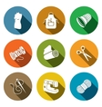 Sewing clothing manufacture icon collection vector image