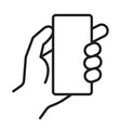 smart phone in hand icon vector image vector image