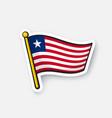sticker flag liberia vector image vector image