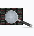 stock analysis vector image