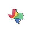 texas map logo design vector image vector image