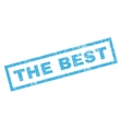 The Best Rubber Stamp vector image vector image