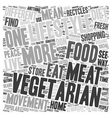 The Lifestyle of a Vegetarian 1 text background vector image vector image