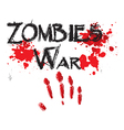 The word zombie war for HORROR in a bloody vector image