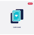 two color card game icon from entertainment vector image vector image