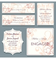 Variety Wedding Invitation Card Elemets vector image