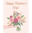 VD bouquet pale vector image