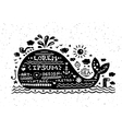 vintage grunge label with whale vector image vector image