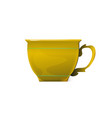 yellow tea cup isolated for vector image