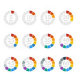 set of timerscolored flat icons vector image