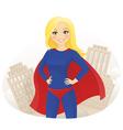 Super hero woman vector image