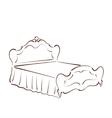 Bed sketch vector image