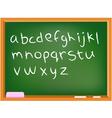 lower case chalkboard alphabet vector image