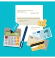 invoice invoicing payment money calculator pay vector image
