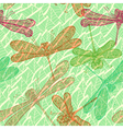 Seamless vintage pattern with dragonflies vector image