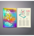 Abstract Brochure Flyer design template vector image