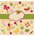 abstract cute ornate christmas frame vector image vector image