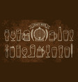 beer objects set isolated on rusty brown backgound vector image