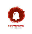 bell icon - red watercolor circle splash vector image vector image