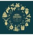 Christmas design frame decoration vector image