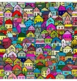 Cityscape background seamless pattern for your vector image