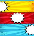 comic book horizontal banners vector image