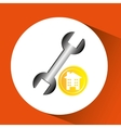 construction remodel wrench icon graphic vector image vector image