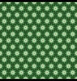 creative green flora pattern background vector image vector image