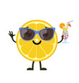 cute and funny lemon character vector image vector image