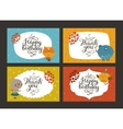 Cute animal cards vector image vector image