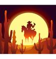 desert rider vector image