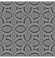 Design seamless monochrome ellipse pattern vector image vector image