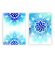 Design with White Mandala vector image vector image
