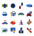 digital assisted transportation vector image vector image