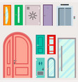 doors isolated entrance vector image vector image