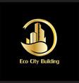 eco city building business logo vector image