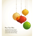Elegant Christmas background with lights and xmas vector image