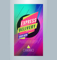express delivery editable templates for social vector image