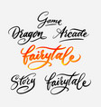 fairytale and story calligraphy vector image