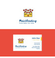 flat love letter logo and visiting card template vector image